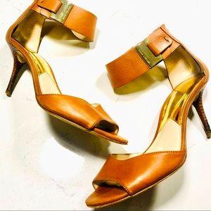 Michael Kors Guiliana open toe heel sandal sz 7.5